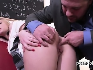 Sweet college girl gets tempted and fucked by her senior tea