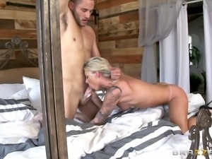 This fascinating blonde girl deserves to get stabbed with a nice cock