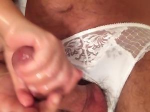 Big cock white panties