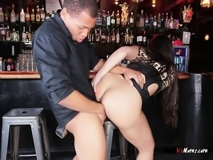 Cougar Mercedes Carrera Loves Black Cocks Around Her