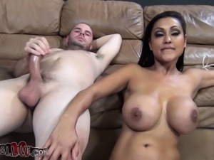 Ethnic cougar with big breasts Priya Rai gets nailed by a young stud