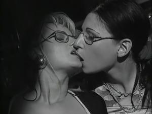 Girl in glasses gets drilled - vintage