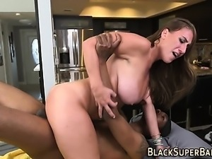 Masseuse rides black dick