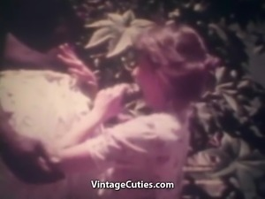 Skinny Wife Indulges a 14 Inch Big Black Cock (Vintage)