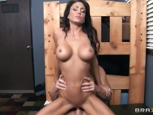 Lean pornstar Jessica Jaymes is hot riding a big dick