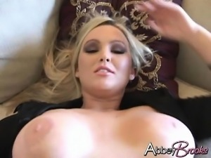 Hot busty blonde Emiliana is joined by her lesbian lover for some pussy