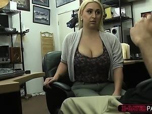 Fat tits and ass blonde woman gets fucked hard by Shawn