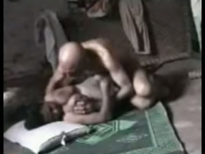 Ugly granddaddy from Peshawar fucks busty young chick in a missionary position