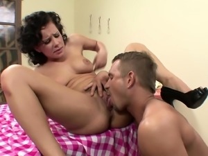 Katie St Ives finds herself a farm boy to suck and get a good hard fuck
