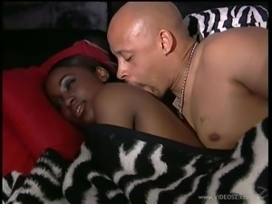Ebony cowgirl moans as she gets hammered hardcore