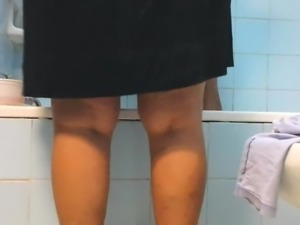 nice upskirt mature bathroom