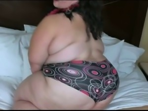 Perverted chubby dark haired webcam bitch flashed her cellulitis ass