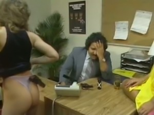 Chubby brunette secretary gets laid with cocky Arab guy