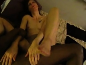 Dark Buddy Fucking My Spouse Hard Ripped Pantyhose