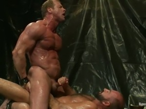 Derek Pain and Josh West get naughty in amazing BDSM gay scene