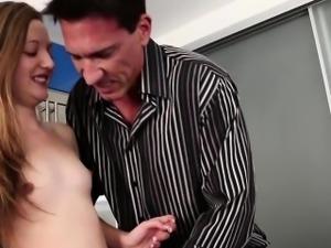 Step dad fucks Marissa Mae on his top