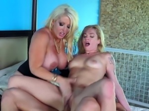 Brazzers - Mom and daughter share cock