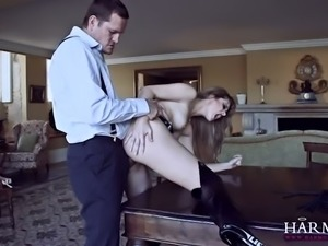 Trashy hooker riding big dick in a cowgirl position