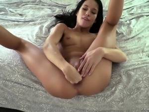 Nasty babe is craving for a rough anal drilling and a mouthful of cum