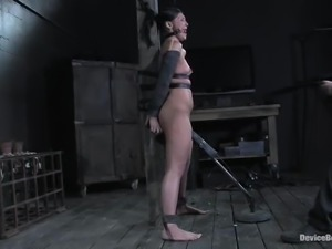 Hot Jade Indica gets whipped and toyed by a machine