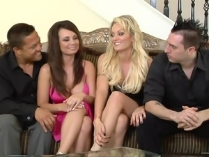 Gorgeous Monica Mayhem And Holly West Go Hardcore With Two Guys