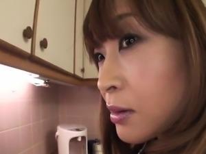 Hikaru Wakabayashi uses her big tits to play with cock