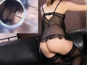 Nasty czech cutie spreads her tight slit to the extreme