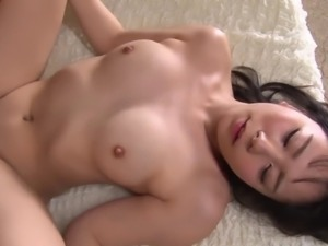 Sweet-looking Japanese chick penetrated on the comfortable bed