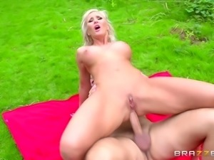 Bombastic Russian senorita getting the anal treatment in the wild