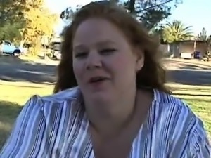 Slutty fat woman shows big body and bonks well with man