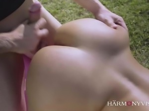Curvy Latina does the Yoga instructor