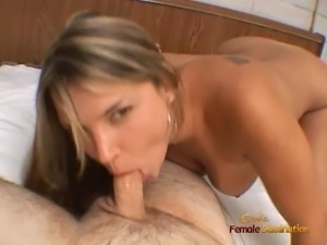 Veronica just has to stroke off a cock while sucking on it