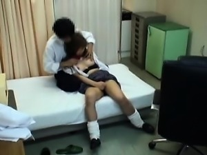 Lovely teen loses her clothes and gets fucked in the doctor