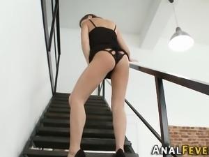 Ass fucked threeway babe