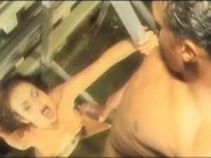Cute model gets her ass drilled by BBC