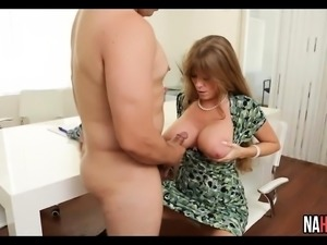 Big Heavy Tits MILF Rides Long Cock Darla Crane