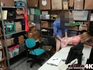Shoplifting Teens Bonnie And Maya Doggy Style Office