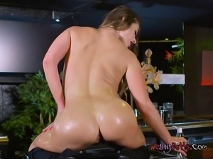 Bombshell Cathy Heaven Gets Her Booty Oiled Up And Poked