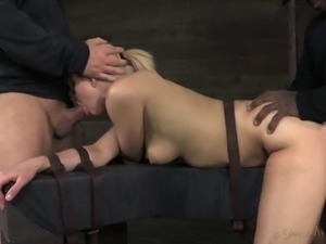 Curvaceous Anikka and the doggy style adventure in the basement