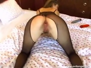 Busty porn hottie treats cock a hot blowjob in sexy lingerie
