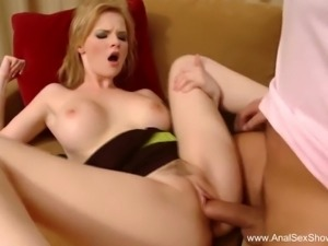 Czech Blonde Demands Deep Anal Sex