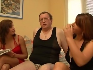 Threesome with Dad