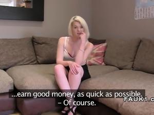 Fake agent bangs tattooed amateur blonde