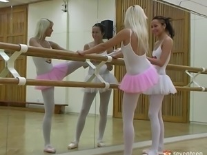 Lesbian ballerinas are supposed to be dancing but have sex instead