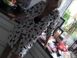Horny milf fucked in kitchen