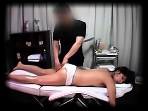Fascinating Japanese babe with sexy legs is made to cum by