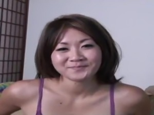 Gorgeous Oriental honey Taya sucks on a dick and gets nailed