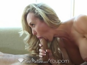 PureMature - Busty mature Brandi Love gets her aged pussy pounded