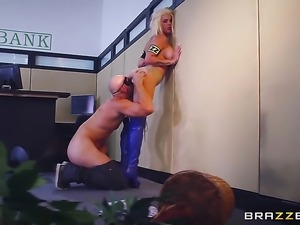 Johnny Sins uses his beefy meat stick to bring blowjob addict