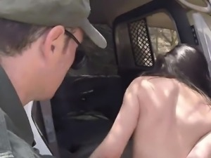 Police blonde hd Pale Cutie Banging on the Border